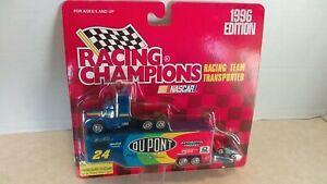 1996 Racing Champions 1:144 Jeff Gordon Racing Team Transporter MOC