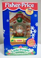 NEW FISHER PRICE LITTLE PEOPLE CHRISTMAS EVE SANTA 1999 CVS EXCLUSIVE ORNAMENT