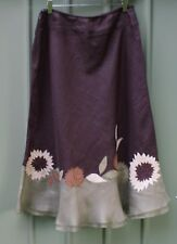 PLANET linen and silk midi skirt size 12