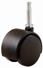 4 PACK of Black 2-Inch Office Desk Chair Swivel Caster Twin Wheel 5/16-Inch Stem