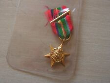 MEDAILLE miniature the pacific  star avec agrafe 1939  1945 (ref 6000)