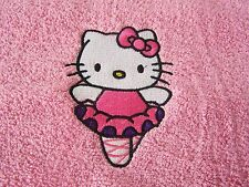 """PERSONALIZED EMBROIDERED HELLO KITTY SWIMMING/BATH TOWEL"" BALLERINA"