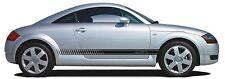 QUATTRO AUDI TT SIDESTRIPES VINYL DECAL STICKER PAIR WILL FIT OTHERS A3 A4 A5 A6