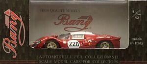 1/43 Bang 7106 Ferrari 412P 1967 Targa Florio #220 Muller & Guichet New