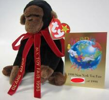 Ty BEANIE MANIA Congo From 1998 NY TOY FAIR w Commemorative Card ONLY 1998 MADE!