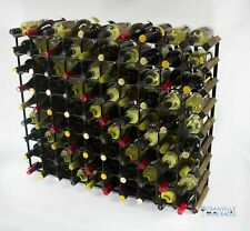 Cranville wine rack storage 90 bottle walnut stain wood/black metal assembled