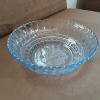 Art Deco Glasschale Obstschale hellblau rund aus Sammlungsauflösung günstig