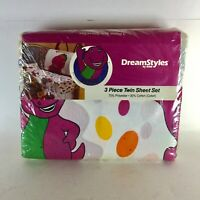 Vintage Barney Sheets Twin Size Vintage Dream style By Bibb Made In USA.