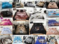 Animal 3D Duvet/Quilt Cover Sets in all Sizes