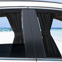50cm Car Sun Shade Side Window Curtain Auto Foldable UV Protection Removable x2