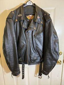 Nice Heavy Harley Davidson Leather Jacket XXL Black - EUC!