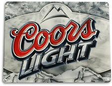 """TIN SIGN """"Coors Light"""" Metal Art Store Pub Brew Beer Liquor Shop Bar Cave A307"""