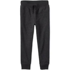 Children Place Boys Active Fleece Jogger Pants Black M 7/8