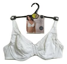 Ex M&S 2 Pack White Cotton Rich Underwired Balcony Bra Non Padded 32-42 A-DD