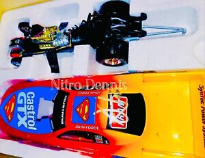 "NHRA JOHN FORCE 1:24 Diecast NITRO Funny Car TOP FUEL Superman 1999 ""Signed"""
