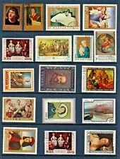 Art PAINTINGS Thematic STAMP Collection MINT USED Ref:TT719