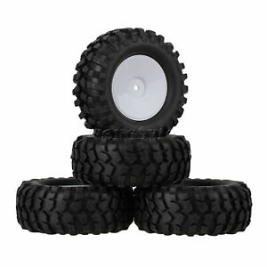 4PCS RC1:10 1.9-inch Simulation Tire and Plastic Enclosed Smooth White Wheel