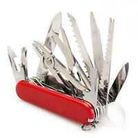 CAMPING MULTI FUNCTION SURVIVAL TOOL POCKET SWISS ARMY KNIFE SWISSCHAMP RED NEW