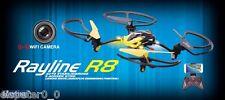 Rayline Quadricottero radiocomandato R8 Drone Giallo WiFi HDCAM