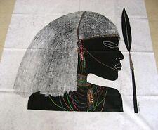 "Masai Moran /Masai Warrior-VERY Large Picture on silk -Made in Kenya -44"" x 39"""