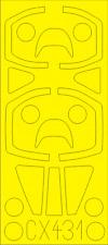 Eduard 1/72 Sepecat Jaguar E Paint Mask for HobbyBoss kit #87259