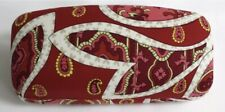 Vera Bradley Hard Large Eyeglass Sunglass Rosy Posies Red glasses sun case NEW