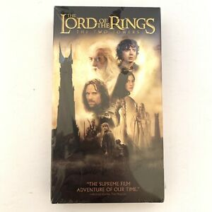 The Lord of the Rings: The Two Towers (VHS, 2003) New and Sealed