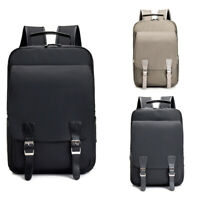 Mens College School Backpack 13 inch Laptop Canvas Shoulder Bag Bookbag Daypack