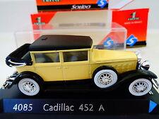 SOLIDO DIECAST -  EARLY 1930's  CADILLAC  452 A W/ CASE - 1:43 SCALE-NIB