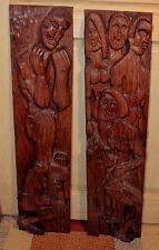 2 Bas relief en chêne de Daniel CLochey,graveur ,pientre et sculpteur.Alsacien