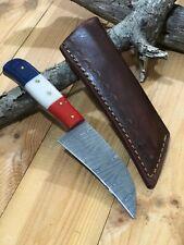 MH KNIVES CUSTOM HANDMADE  DAMASCUS STEEL FULL TANG HUNTING/SKINNER KNIFE 203V