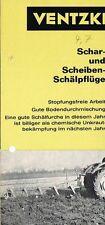 Ventzki Schar- und Scheiben- Schälpflüge, orig. Prospekt 1969