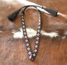 Western Vintage Beaded Hatband Multi Cowboy Rodeo Hat Band Tassles T ae0f94e5912e