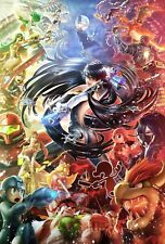 Super Smash Bros Poster Ultimate Melee Brawl Wall Art - NEW - 11x17 13x19 17x25