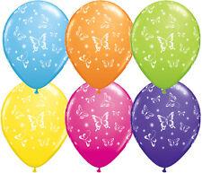 """BUTTERFLY BALLOONS 10 x 11"""" QUALATEX BUTTERFLIES-A-ROUND TROPICAL BALLOONS"""