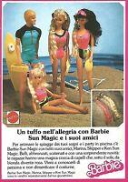 X1347 Barbie Sun Magic e i suoi amici_Mattel - Pubblicità del 1989 - Vintage ad