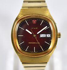Vintage Omega MEGAQUARTZ 32 KHz Day / Date Gold Plated Watch