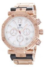 Aqua Master Men's White Dial Rose Gold Chronograph Diamond Watch W#147