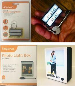 PHOTO FRAME LIGHT UP BOX + Cinema LIGHT KEY RING : 2 items Gift Christmas SET