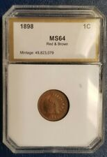 1898 - Indian Head Cent 1c - MS++/UNC - Red&Brown