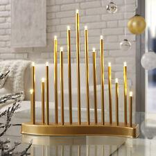 2 Stück LED Schwibbogen Adventsleuchter Weihnachtsleuchter Pyramide Gold SL221