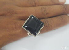sterling silver ring black onyx gemstone ring cocktail ring handmade