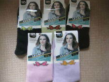 Ladies/Girls cotton socks by Leonfit, sizes 3-5 or 5-7, small bows