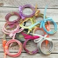 Fashion Glitter Bangles Set Summer Silicone Jelly Glitter Filled Bracelets