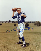 JOHNNY UNITAS SIGNED AUTOGRAPHED 8x10 PHOTO BALTIMORE COLTS LEGEND BECKETT BAS