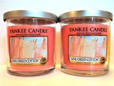 YANKEE Candle LINE DRIED COTTON Tumbler Jar Candles, 7 oz/196 g, NEW x 2