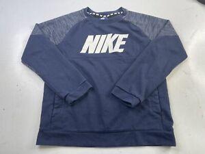 Nike Kids Sportswear Advance 15 Crew Little Kids Obsidian/White 856184 451 Large