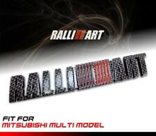 EMBLEM BADGE LOGO CARBON BLACK RALLI ART FOR MITSUBISHI MULTI MODEL STICKER AUTO