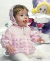 BABY,S MATINEE JACKET & BONNET KNITTING PATTERN 18/20 INCH BY EMAIL (644)