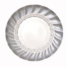 12 X Pequeño Plata platos de papel-Bodas De Plata 25 Aniversario de Boda Fiesta